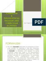 Formalism and Curricular Activities