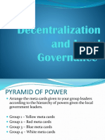 Decentralization and Local Governance
