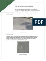 Fallas y Deterioros en Pavimentos