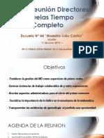 Cuarta Reunión Directores Escuelas Tiempo Completo.pptx