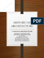 II. History of Architecture Prime