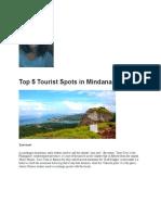 Top 5 Tourist Spots in Mindanao.docx