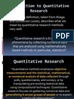 4 Types of Quantitative Research