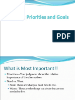 Chapter 2 Setting Priorities and Goals