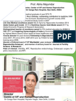 Prof. Abha Majumdar Director, Center of IVF and Human Reproduction Sir Ganga Ram Hospital, New Delhi, INDIA
