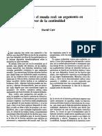 Carr, David - La Narrativa y El Mundo Real