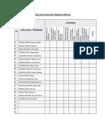 Lista de Cotejo de Trabajo Grupal