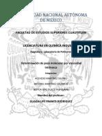 reportedeterminacindepesomolecularporviscosidadintrnseca-131017203056-phpapp01