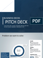 Startup Pitch Deck PowerPoint Templates | Startup Pitch PPT Templates Deck | SlideUpLift