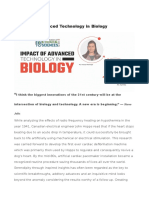 Impact of Advanced Technology in Biology