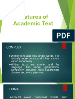 Feature of Academic Text