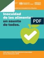Dia Mundial Inocuidad Alimentos 2019