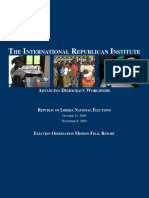 Liberias 2005 Presidential and Parliamentary Elections