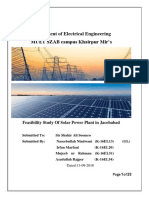 Feasibility of a Solar Pp in Jacobabad