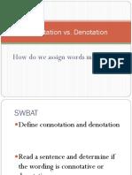 Connotation Versus Denotation Final