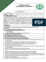 Ordem de Serviço Operação de Máquinas Equipamentos