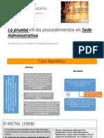 Actividad probatoria en fase administrativa tributaria