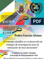 El Método Científico en El Desarrollo de Trabajos de Investigación Para La Realización de Tesis Doctorales