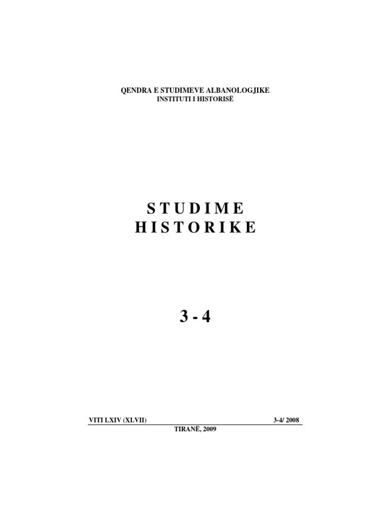 Studime Historike 3 4 2008