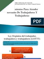RECLAMO DE TRABAJADORES Y TRABAJADORES SEGÚN LA LOTTT