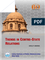 Trends in Union State Relations