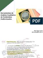 Herramientas de Análisis Cualitativo de Contenidos Audiovisuales.