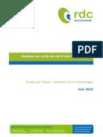 Rapport Acv Bouteille Pet 2010