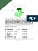 Áreas Protegidas de Guatemala (1)
