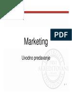 Uvodno Predavanje Marketing [Read-Only]