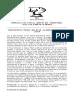 Nota de Prensa Liga Superior de Ajedrez Resultados Torneo Final Del Ciclo II