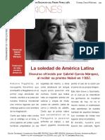 La Soledad de América Latina