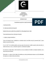 Roteiro de Aula - Aula 04 - Procedimentos Especiais Em Espécies (Continuação)