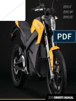 2015 Zero Owners Manual S SR DS