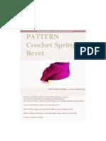 Crochet Beret SPRING
