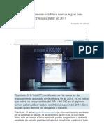 Ley de Financiamiento Establece Nuevas Reglas Para Facturación Electrónica a Partir de 2019