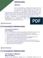 3.4 Yacimientos Hidrotermales Depósitos Cordilleranos
