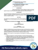 Reglamento de Construccion Urbanismo y Ornato Para El Municipio de Villa Nueva