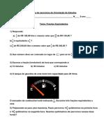 Lista de Exercícios de Orientação de Estudos_Frações Equivalentes