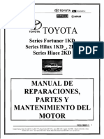 Manual Toyota Hilux 1kd 2kd Argentino