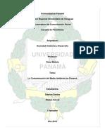239307016 La Contaminacion Del Medio Ambiente en Panama Docx