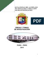 Areas y Temas de Investigación
