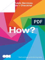 ODI Data and Public Services Toolkit Guide & Checklist