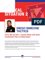 Diego Simeone Transition Defence to Attack Tactics Plus Session