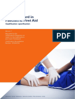 Level 3 Award in Paedriatric First Aid Spec