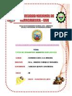 Dinamita y Agentes Explosivos 2019