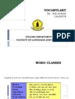 Adi Widodo - Topic 1 - Word Classes