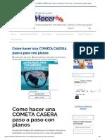 Como Hacer Una COMETA CASERA Paso a Paso Con Planos _ Como Hacer - Instrucciones y Planos Gratis