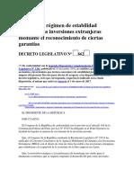 D.leg 662 Estabilidad Jurídica de Inversiones Extranjeras