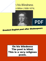 On His Blindness