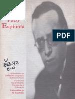 Actas de Las Jornadas de Homenaje a Paco Espinola 1999